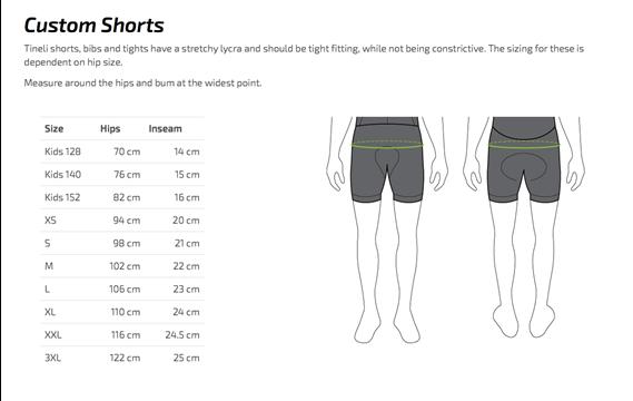 Clothing Sizing Chart Fluid Movements